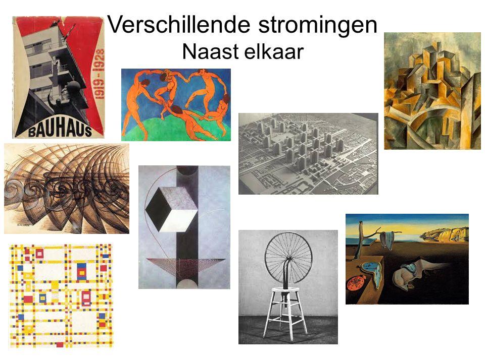 Het Kubisme (1910-1914) Analytisch kubisme (kleine vakjes) Synthetisch kubisme (overzichtelijke composities).