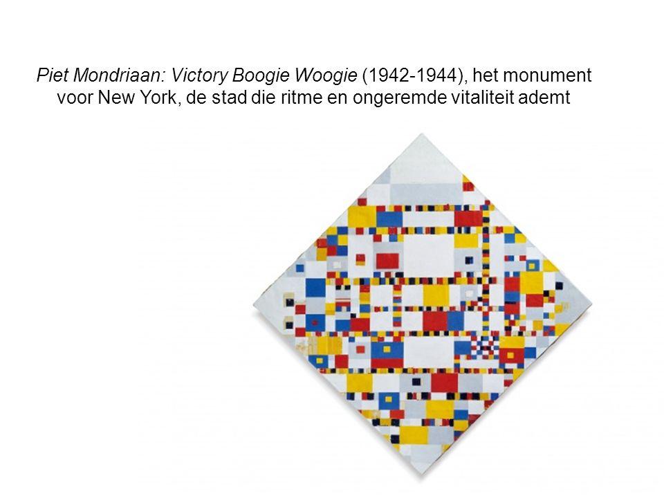Piet Mondriaan: Victory Boogie Woogie (1942-1944), het monument voor New York, de stad die ritme en ongeremde vitaliteit ademt