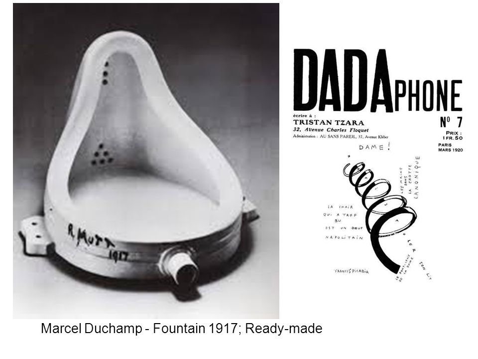 Marcel Duchamp - Fountain 1917; Ready-made