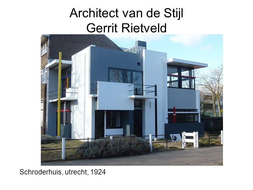 Architect van de Stijl Gerrit Rietveld Schroderhuis, utrecht, 1924