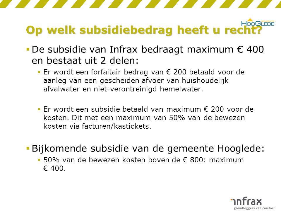 Op welk subsidiebedrag heeft u recht.