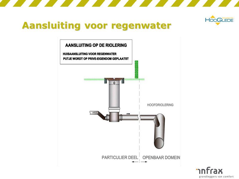 Aansluiting voor regenwater