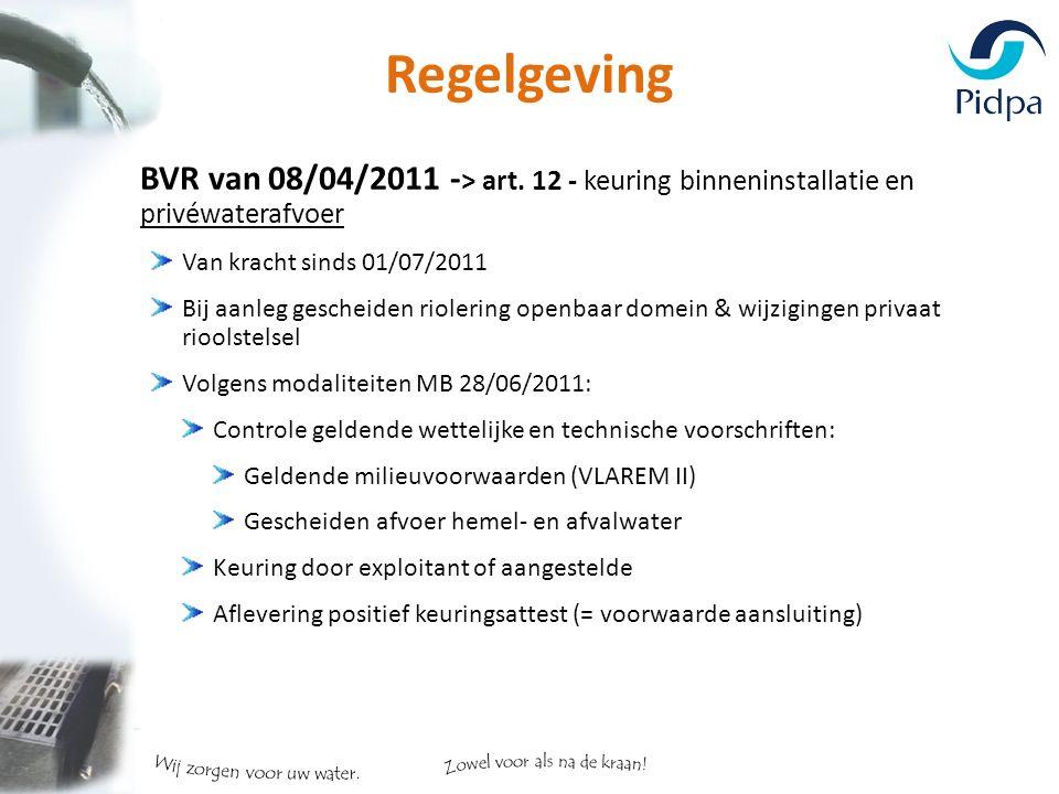 Regelgeving BVR van 08/04/2011 - > art.