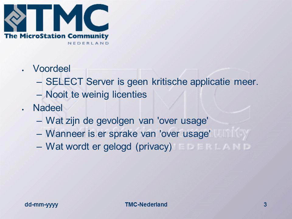 dd-mm-yyyyTMC-Nederland4 Praktijkvoorbeeld