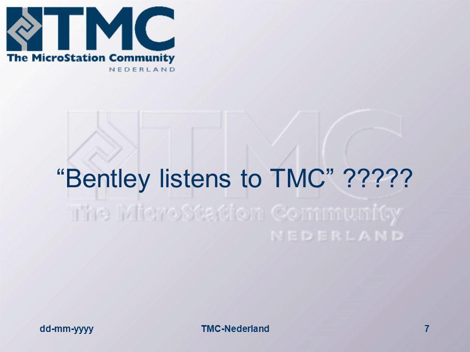 dd-mm-yyyyTMC-Nederland8 VNMG  29 september VNMG overleg  Henk Kersten (ISD Bentley Civil) stuur VNMG een brief hoe om te gaan met deze situatie