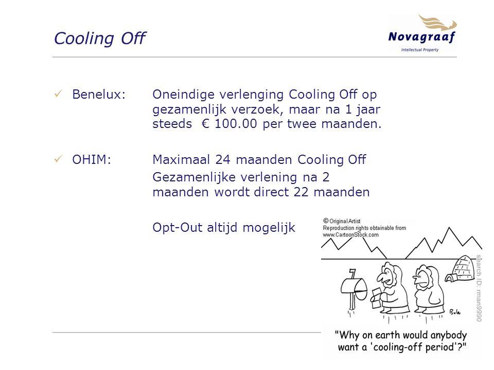Cooling Off Benelux:Oneindige verlenging Cooling Off op gezamenlijk verzoek, maar na 1 jaar steeds€ 100.00 per twee maanden.