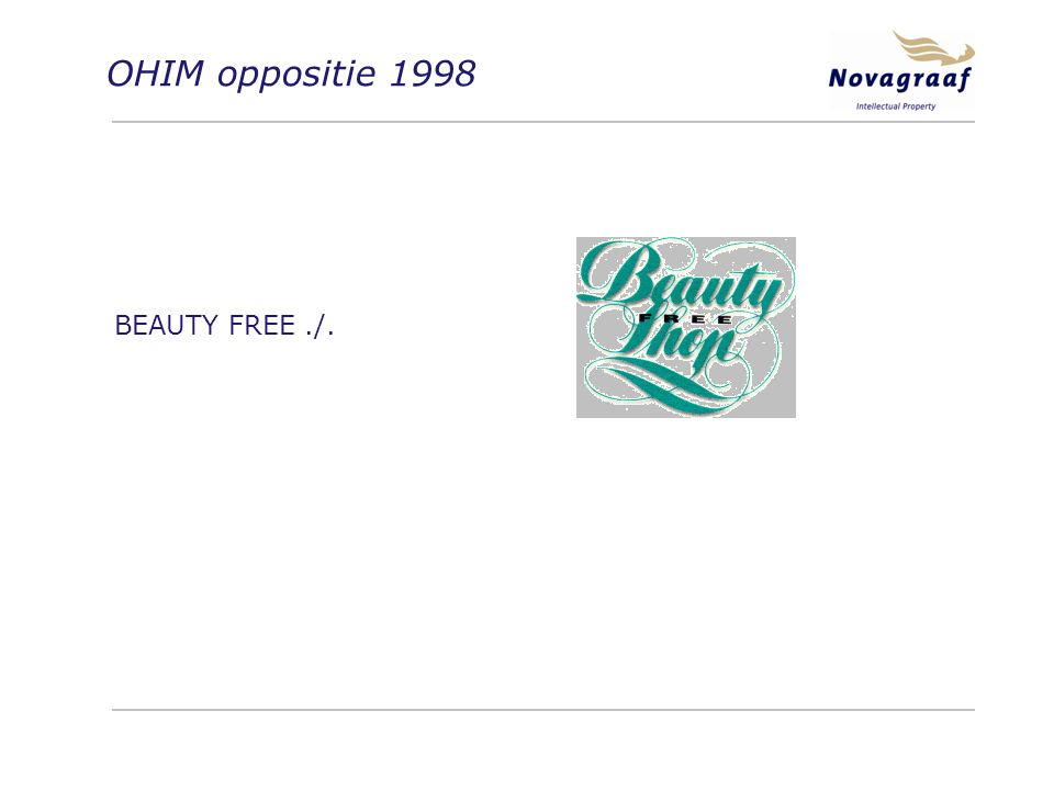 OHIM oppositie 1998 BEAUTY FREE./.
