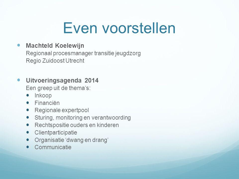 Agenda I.Toelichting op werkprocessen aan de hand van toegang II.