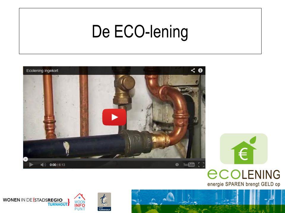 WONEN IN DE De ECO-lening