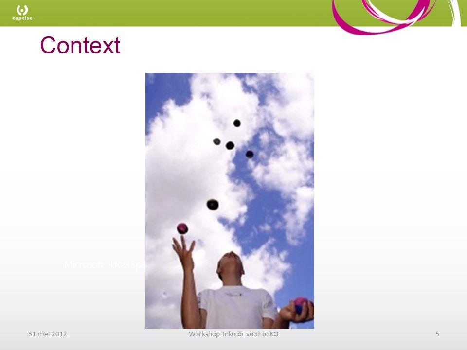 Context 31 mei 2012Workshop Inkoop voor bdKO5