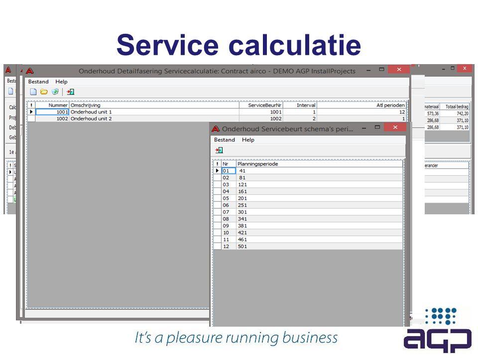 Service calculatie