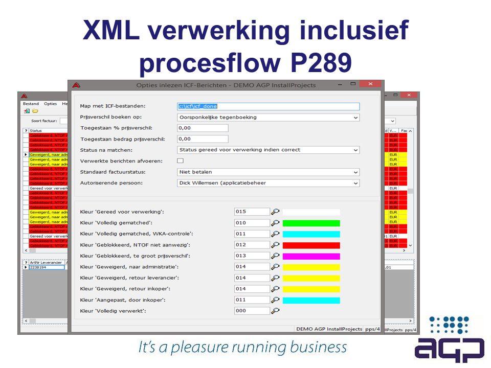 XML verwerking inclusief procesflow P289