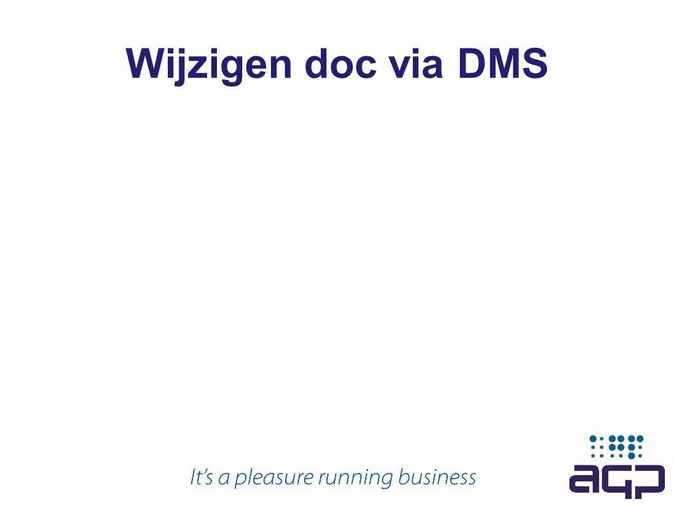 Wijzigen doc via DMS
