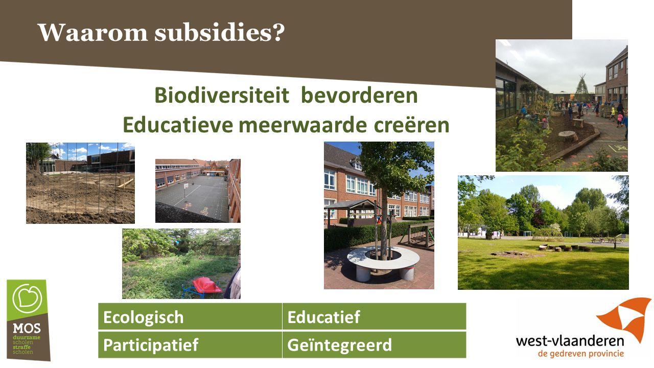 Waarom subsidies.