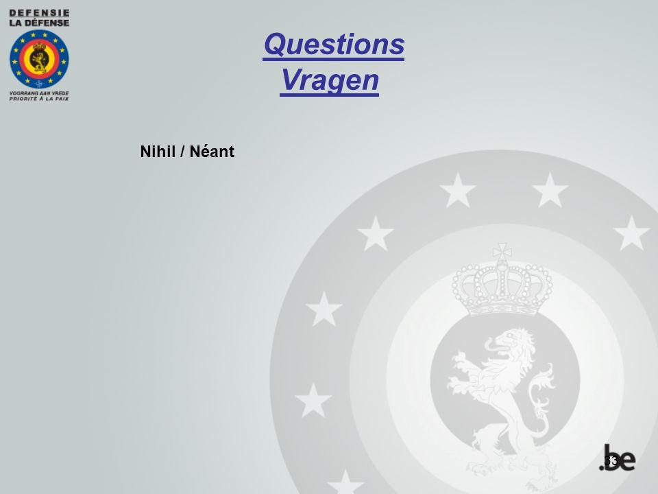 Nihil / Néant Questions Vragen 33
