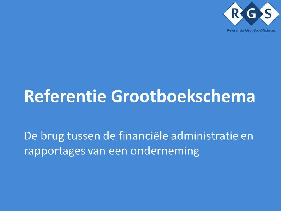 Referentie Grootboekschema De brug tussen de financiële administratie en rapportages van een onderneming