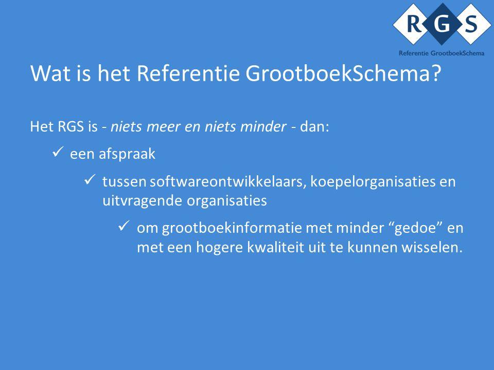 Wat is het Referentie GrootboekSchema.