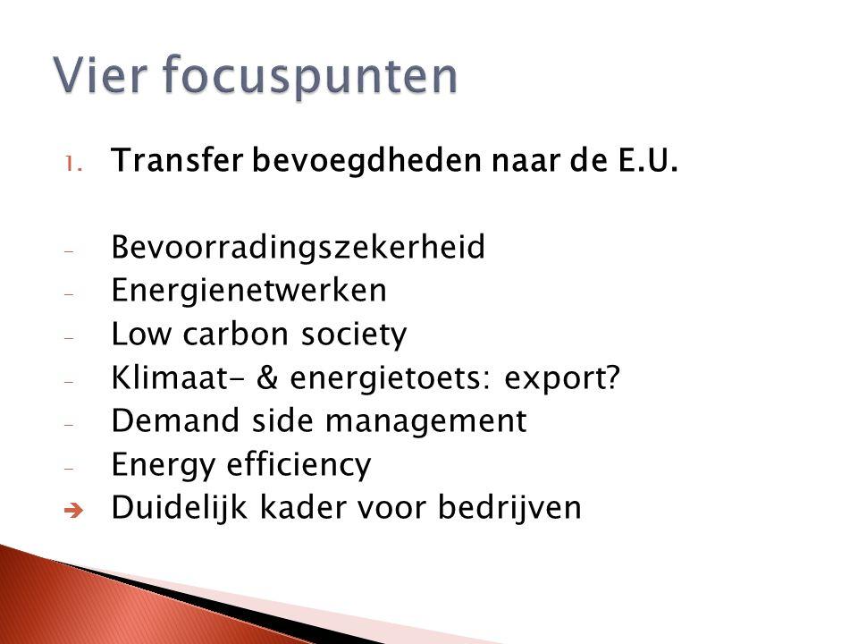 1. Transfer bevoegdheden naar de E.U.