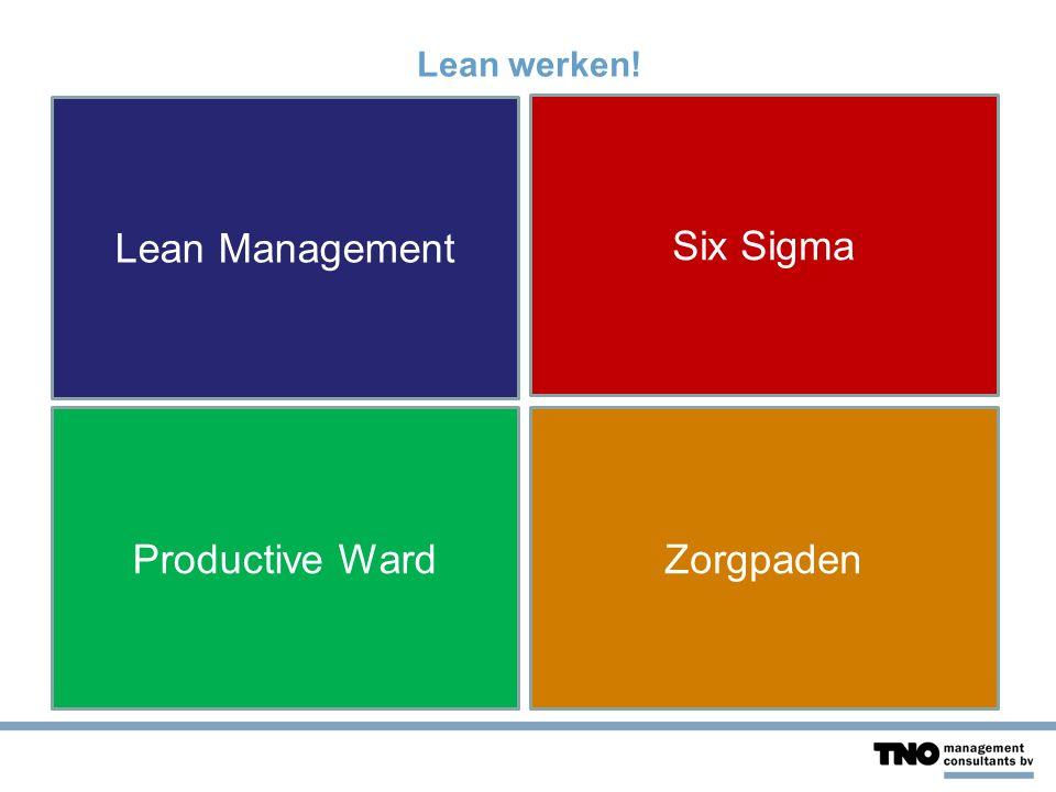 10 Voorbeelden van Lean Werken.1.Meer blauw op straat: meer tijd voor de burger.