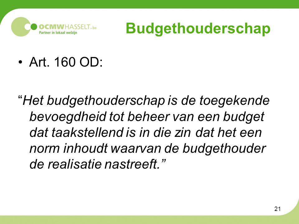 Budgethouderschap Art.