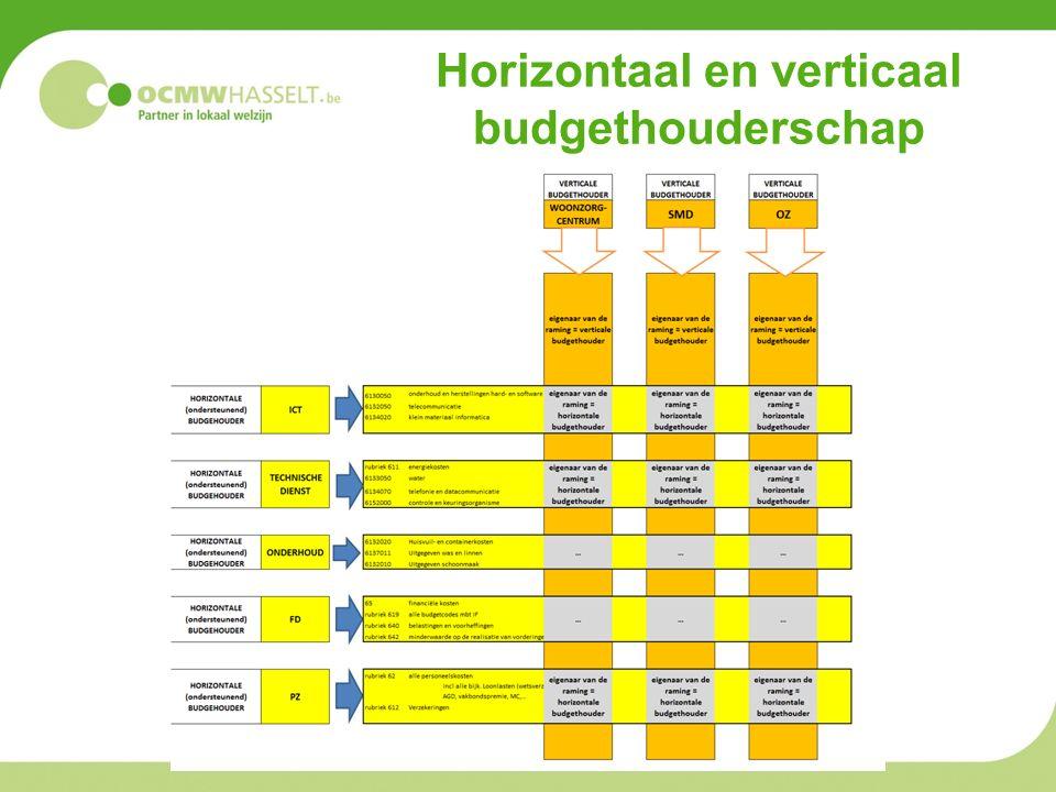 Horizontaal en verticaal budgethouderschap