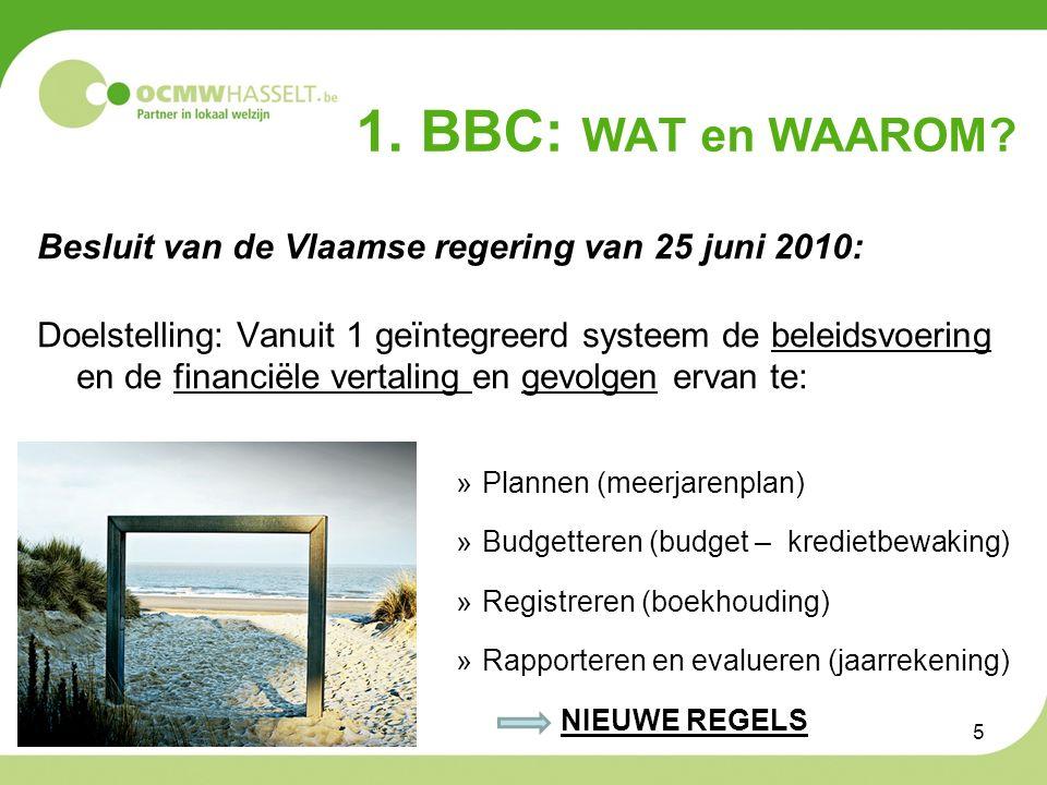 1. BBC: WAT en WAAROM.