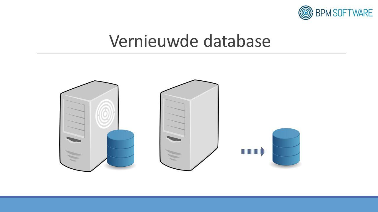 Vernieuwde database
