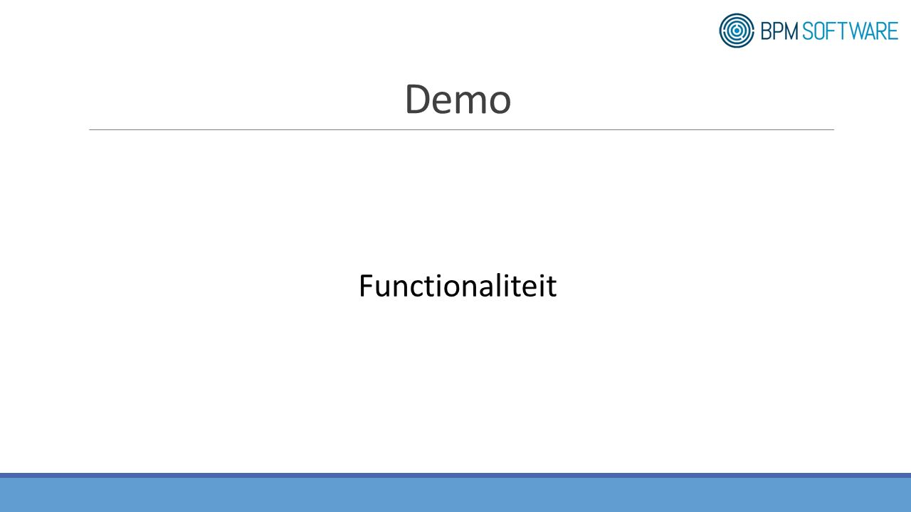 Demo Functionaliteit