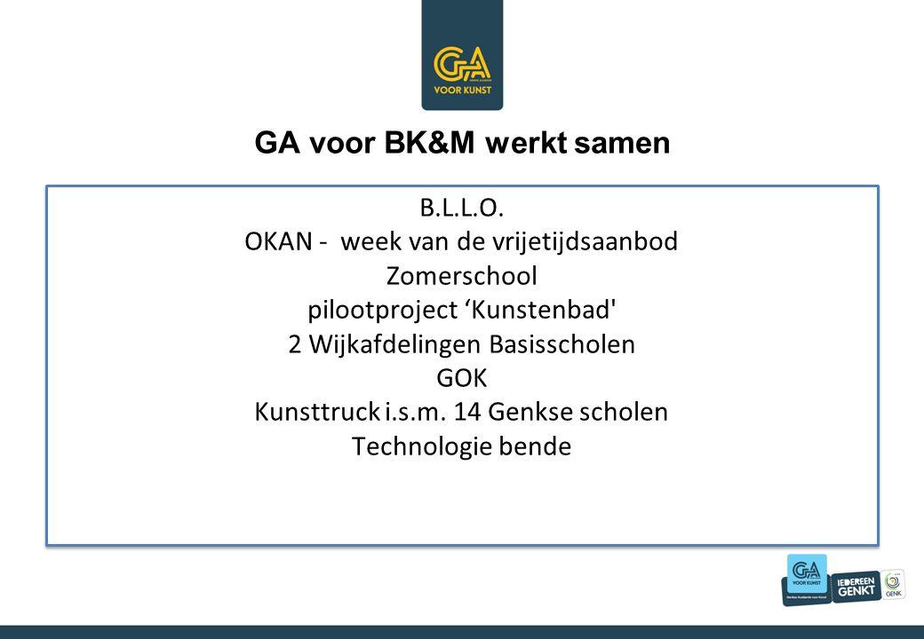 GA voor BK&M werkt samen B.L.L.O.