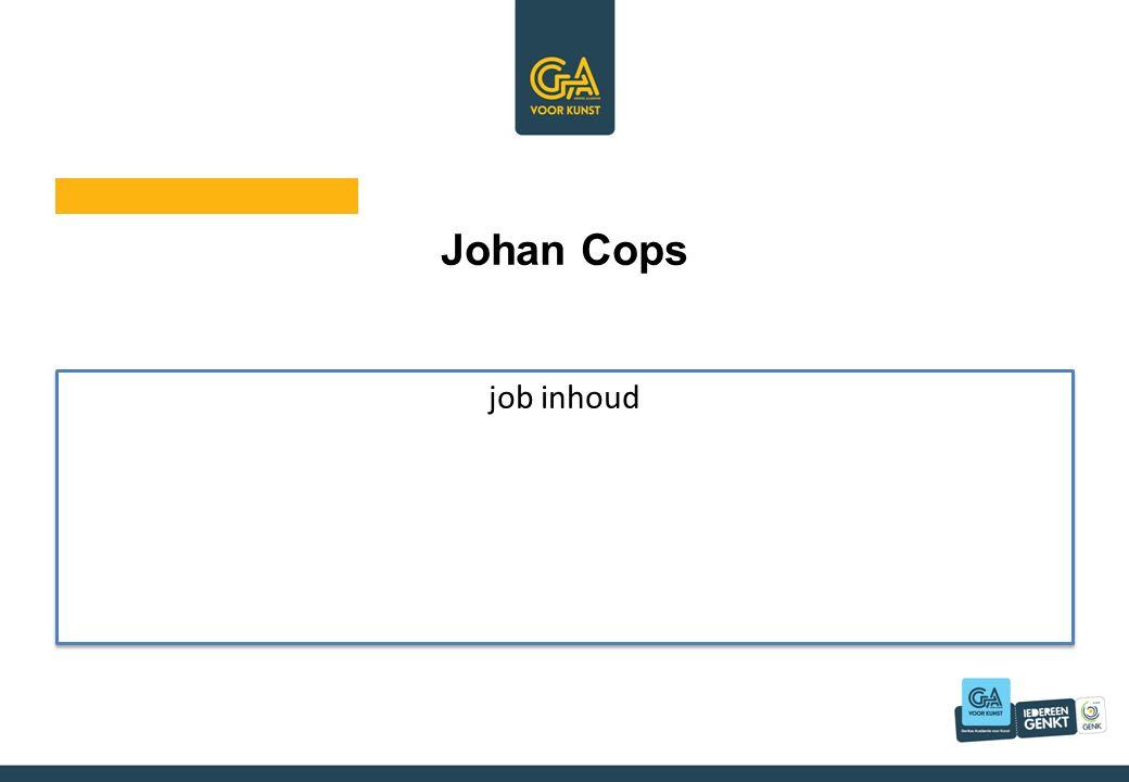 Johan Cops job inhoud