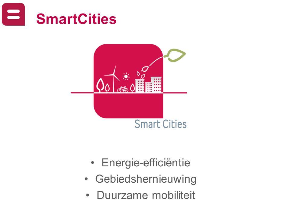 SmartCities Energie-efficiëntie Gebiedshernieuwing Duurzame mobiliteit