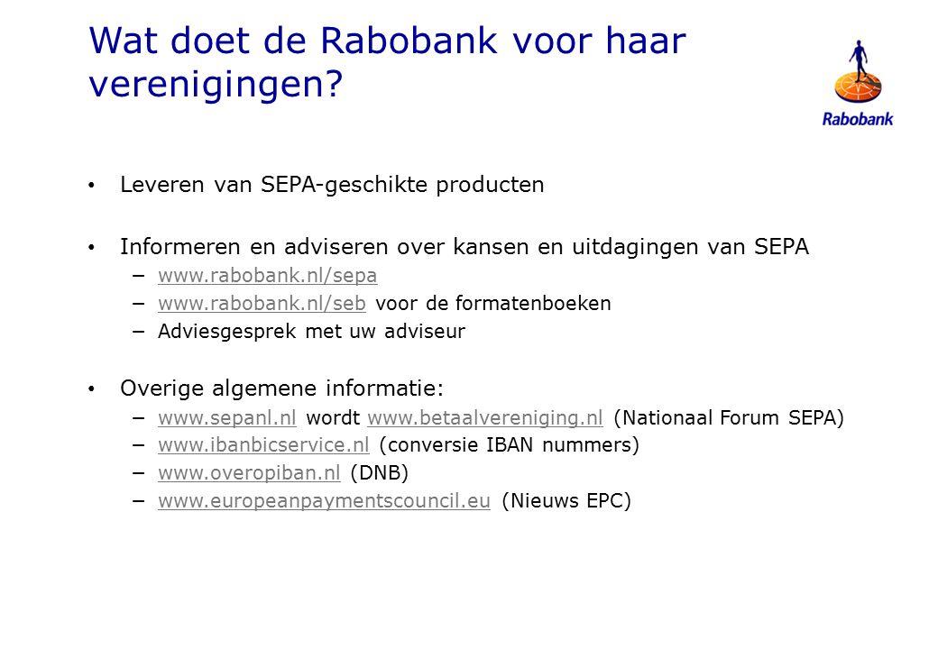 Wat doet de Rabobank voor haar verenigingen.