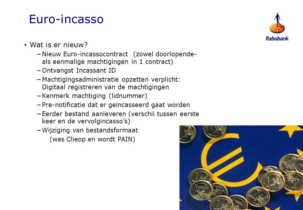 Euro-incasso Wat is er nieuw.