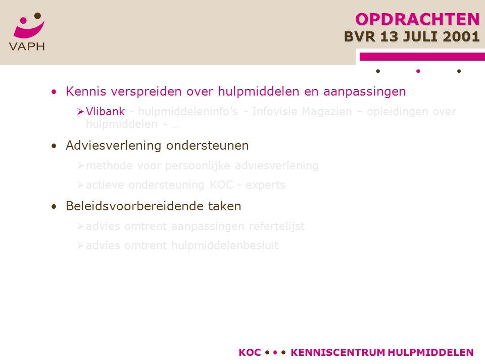 KENNISCENTRUM HULPMIDDELENKOC Geen adviesrapport nodig voor hulpmiddelen met refertebedrag  375 euro (enkel voor domeinen met *) voor vernieuwing van het hulpmiddel na refertetermijn  Wel: nood aan gemotiveerde aanvraag van de persoon met een handicap ADVIESRAPPORT PRAKTISCHE RICHTLIJNEN