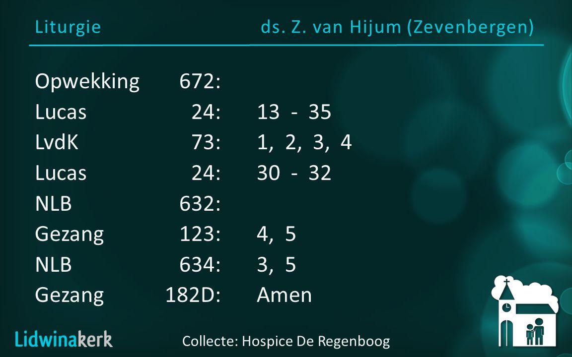 Gezang 123, Gz 2:4, 5 5 k Geloof in God, de Heilge Geest, die troost en hoop aan Christus kerk wil geven.