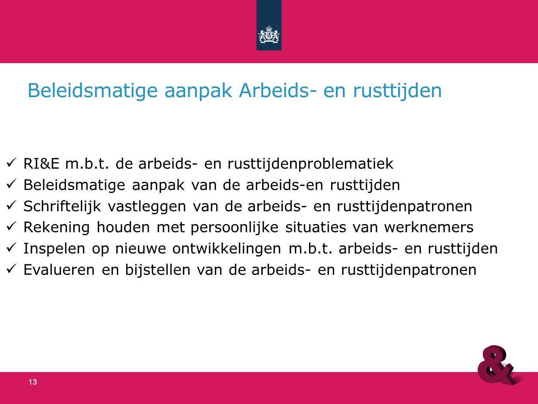 Beheersmaatregelen Agressie en Geweld Inventarisatie van de risico's m.b.t.