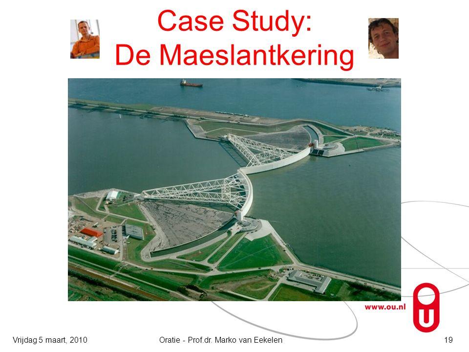 Case Study: De Maeslantkering Oratie - Prof.dr. Marko van Eekelen19Vrijdag 5 maart, 2010