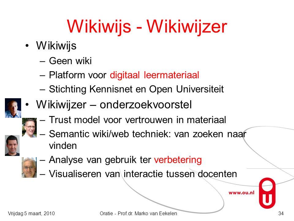 Wikiwijs - Wikiwijzer Wikiwijs –Geen wiki –Platform voor digitaal leermateriaal –Stichting Kennisnet en Open Universiteit Wikiwijzer – onderzoekvoorst