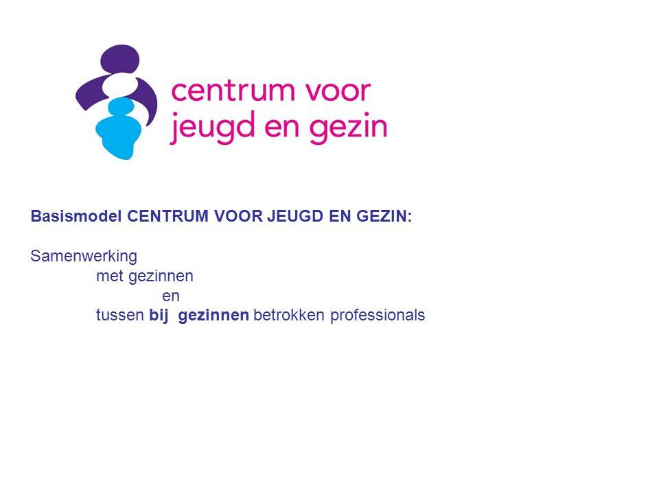 Basismodel CENTRUM VOOR JEUGD EN GEZIN: Samenwerking met gezinnen en tussen bij gezinnen betrokken professionals