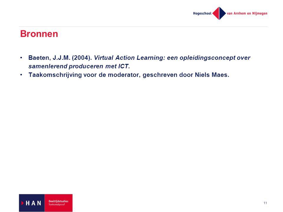 11 Bronnen Baeten, J.J.M. (2004).