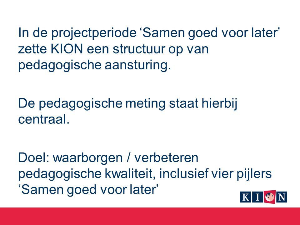 In de projectperiode 'Samen goed voor later' zette KION een structuur op van pedagogische aansturing.