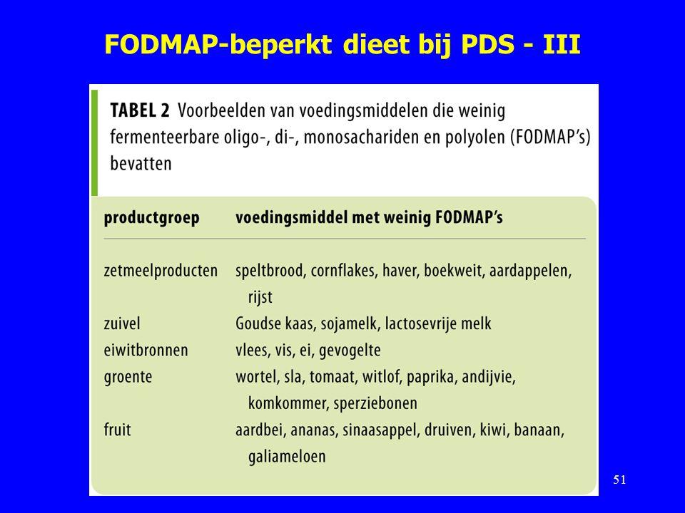 FODMAP-beperkt dieet bij PDS - III 51