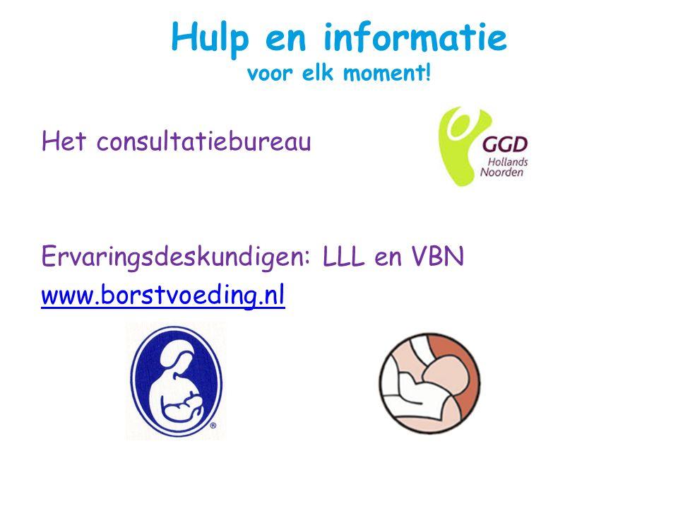Hulp en informatie voor elk moment.
