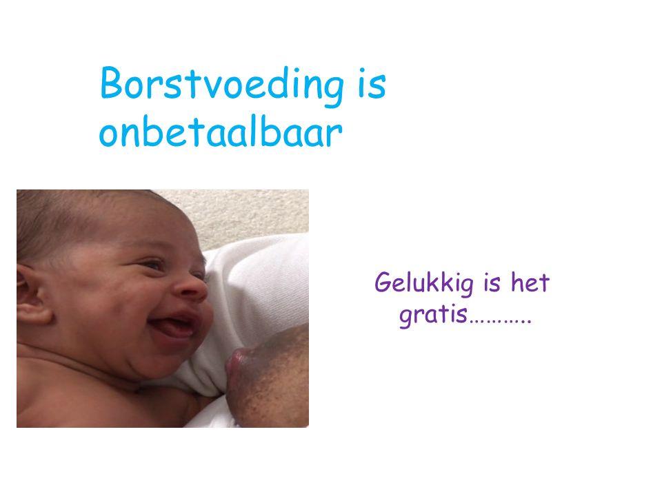 Gelukkig is het gratis……….. Borstvoeding is onbetaalbaar