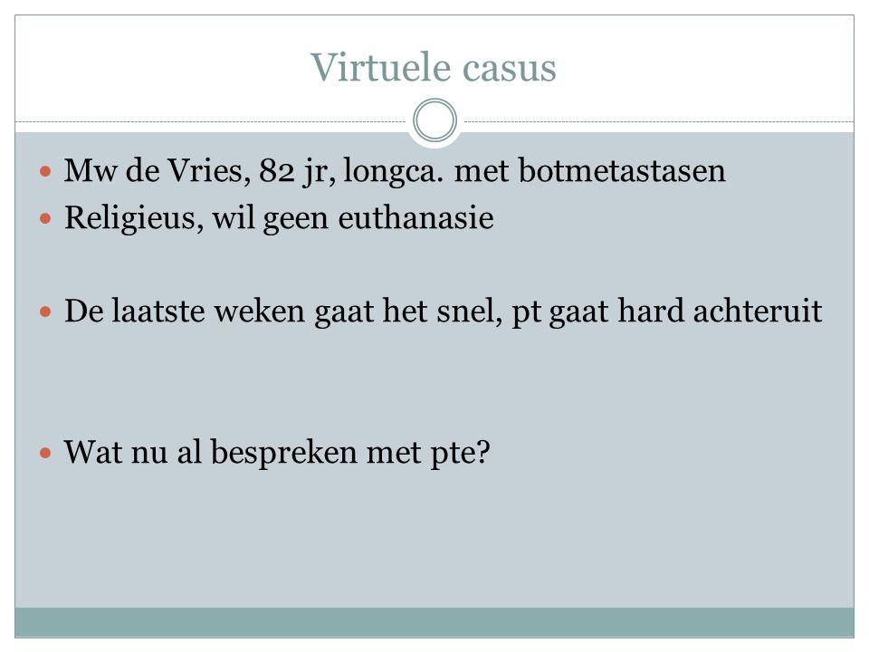 Virtuele casus Mw de Vries, 82 jr, longca.
