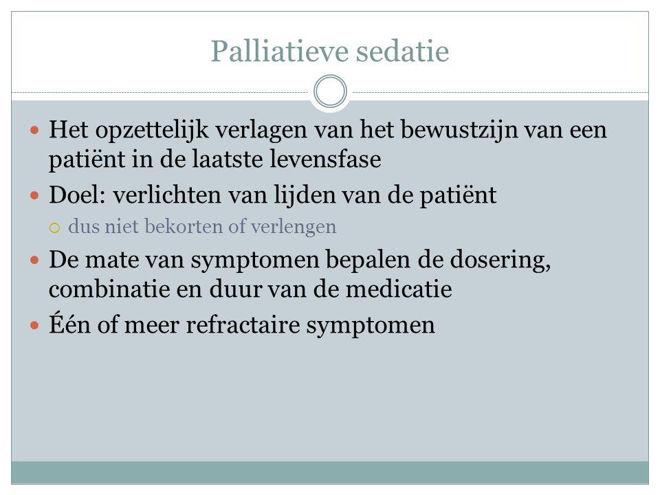 Richtlijn palliatieve sedatie KNMG 2009 IKNL 2009