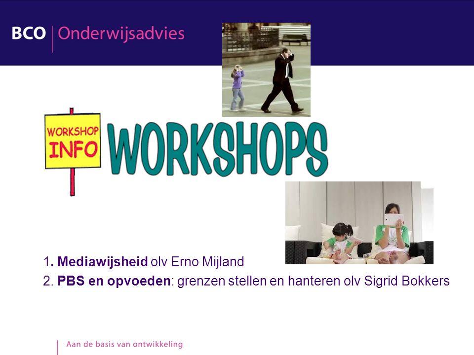 1. Mediawijsheid olv Erno Mijland 2.