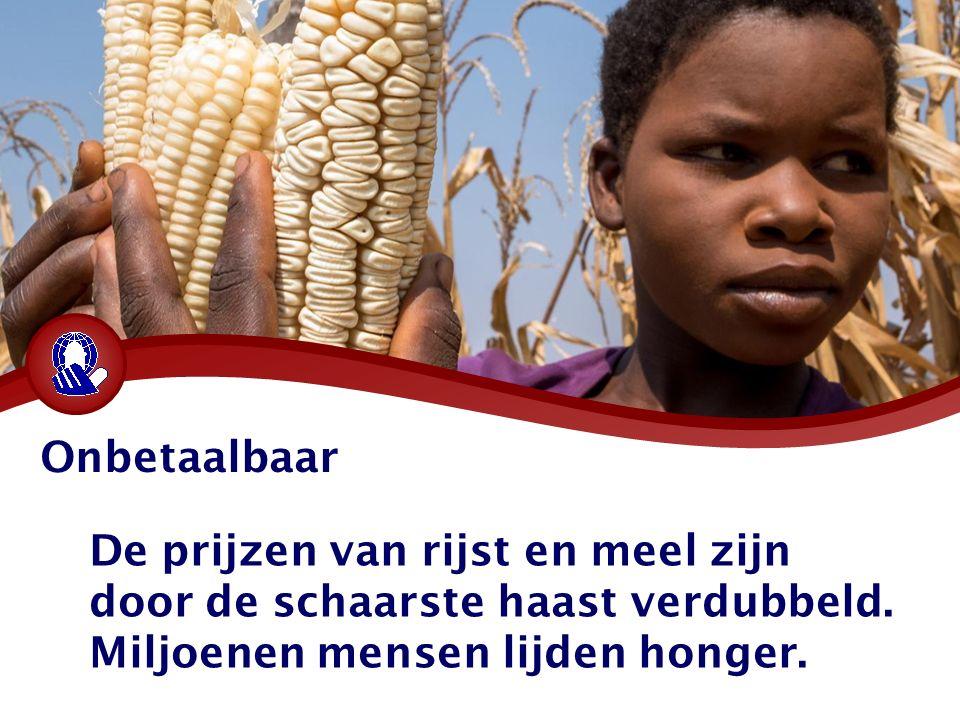 Onbetaalbaar De prijzen van rijst en meel zijn door de schaarste haast verdubbeld.