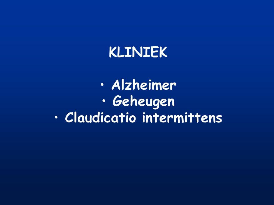 KLINIEK Alzheimer Geheugen Claudicatio intermittens