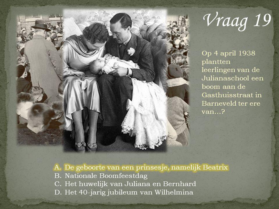 Vraag 18 Bij welk dorp in de gemeente ligt het Prins Hendrikbos